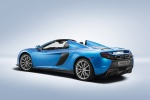 2016 McLaren 650S Spider in Blue - Static Rear Left Three-quarter View