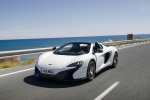 2016 McLaren 650S Spider in White - Driving Front Left Three-quarter View