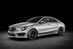 2015 Mercedes-Benz CLA250 with Sport Package in Polar Silver Metallic - Static Front Left Three-quarter View