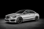 2016 Mercedes-Benz CLA250 with Sport Package in Polar Silver Metallic - Static Front Left Three-quarter View