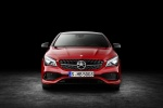 2017 Mercedes-Benz CLA-Class 4-door Coupe in Jupiter Red - Static Frontal View