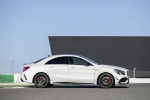 2018 Mercedes-Benz AMG CLA45 4-door Coupe in Cirrus White - Static Side View