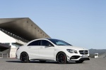 2018 Mercedes-Benz AMG CLA45 4-door Coupe in Cirrus White - Static Front Right Three-quarter View