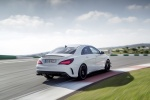 2018 Mercedes-Benz AMG CLA45 4-door Coupe in Cirrus White - Driving Rear Right View