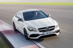 2018 Mercedes-Benz AMG CLA45 4-door Coupe in Cirrus White - Driving Frontal View