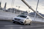 2018 Mercedes-Benz AMG CLA45 4-door Coupe in designo Magno Polar Silver - Driving Front Left Three-quarter View