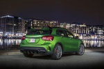 Picture of a 2019 Mercedes-AMG GLA 45 4MATIC from a rear right three-quarter perspective