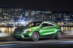 Picture of a 2019 Mercedes-AMG GLA 45 4MATIC from a front left three-quarter perspective