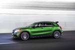 Picture of a driving 2019 Mercedes-AMG GLA 45 4MATIC from a left side perspective