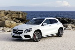 Picture of a 2019 Mercedes-AMG GLA 45 4MATIC in Polar White from a front left three-quarter perspective