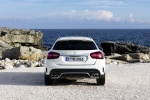 Picture of a 2019 Mercedes-AMG GLA 45 4MATIC in Polar White from a rear perspective