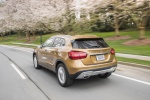 Picture of a driving 2019 Mercedes-Benz GLA 250 4MATIC from a rear left perspective