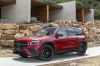 2020 Mercedes-Benz GLB 250 in Patagonia Red Metallic from a front left three-quarter view