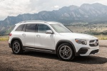Picture of a 2020 Mercedes-Benz GLB 250 in Polar White from a front right perspective