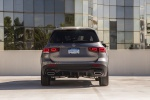 Picture of a 2020 Mercedes-Benz GLB 250 4MATIC in Mountain Gray Metallic from a rear perspective