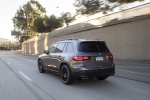 Picture of a driving 2020 Mercedes-Benz GLB 250 4MATIC in Mountain Gray Metallic from a rear left perspective