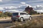 Picture of a driving 2020 Mercedes-Benz GLB 250 4MATIC in Mountain Gray Metallic from a rear right three-quarter perspective