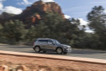 Picture of a driving 2020 Mercedes-Benz GLB 250 4MATIC in Mountain Gray Metallic from a right side perspective
