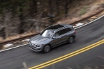 Picture of a driving 2020 Mercedes-Benz GLB 250 4MATIC in Mountain Gray Metallic from a front left three-quarter top  perspective