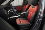 Picture of a 2020 Mercedes-Benz GLB 250 4MATIC's Front Seats in Classic Red / Black