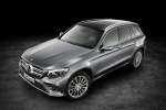 2016 Mercedes-Benz GLC-Class in Iridium Silver Metallic - Static Front Left Three-quarter Top View