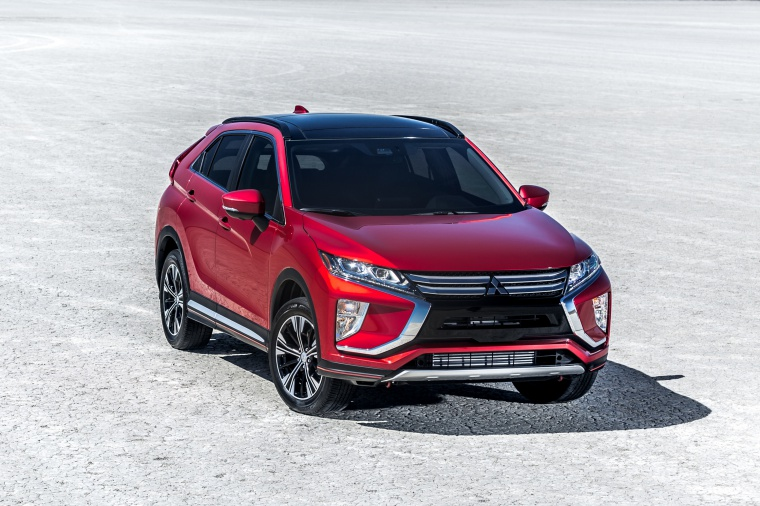 Picture of a 2019 Mitsubishi Eclipse Cross SEL S-AWC in Red Diamond from a front right perspective