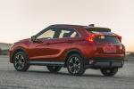 Picture of a 2019 Mitsubishi Eclipse Cross SEL S-AWC in Red Diamond from a rear left three-quarter perspective