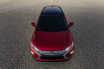 Picture of a 2019 Mitsubishi Eclipse Cross SEL S-AWC in Red Diamond from a frontal top perspective