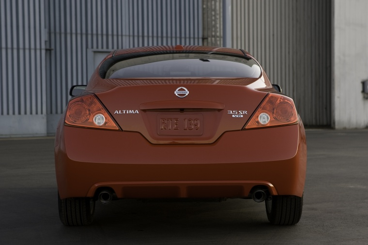2012 Nissan Altima Coupe 3.5 SR in Red Alert Color - Static - Rear ...