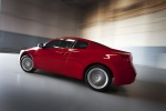 2012 Nissan Altima Coupe 3.5 SR in Red Alert - Driving Rear Left Three-quarter View