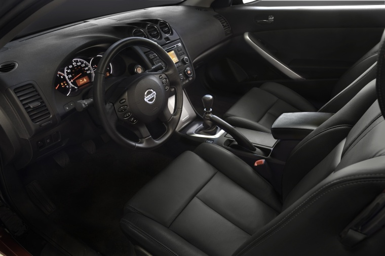 2013 Nissan Altima Coupe Interior In Charcoal Color Picture Image