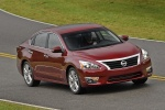 2013 Nissan Altima Sedan 3.5 SL in Cayenne Red Metallic - Driving Front Right Three-quarter View