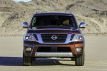 Picture of a 2017 Nissan Armada Platinum in Forged Copper from a frontal perspective