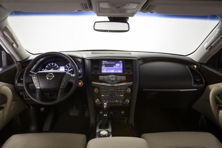 2018 Nissan Armada Platinum Cockpit Picture