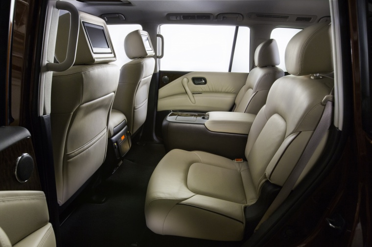 2018 Nissan Armada Platinum Rear Seats Picture