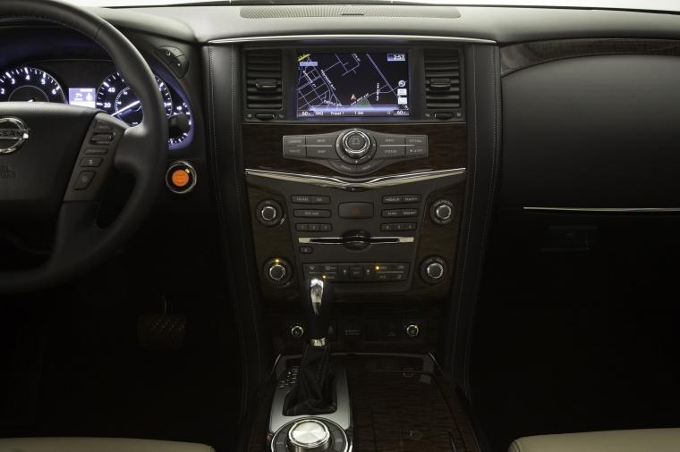 2018 Nissan Armada Platinum Center Stack Picture
