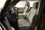 Picture of a 2018 Nissan Armada Platinum's Front Seats in Almond