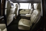 Picture of a 2018 Nissan Armada Platinum's Rear Seats in Almond
