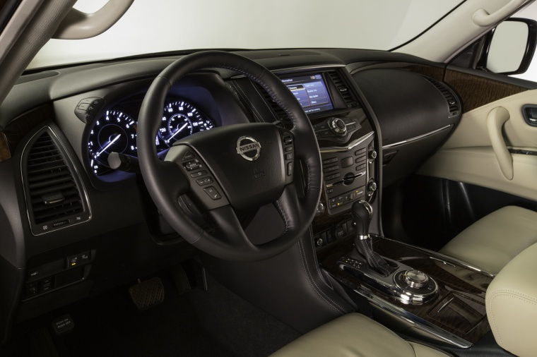 Picture of a 2019 Nissan Armada Platinum's Interior in Almond