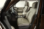 Picture of a 2019 Nissan Armada Platinum's Front Seats in Almond