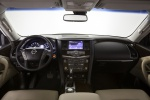 Picture of a 2020 Nissan Armada Platinum's Cockpit in Almond