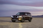 2020 Nissan Armada Platinum in Forged Copper Metallic - Static Front Left Three-quarter View