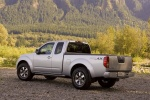 2015 Nissan Frontier King Cab PRO-4X 4WD in Brilliant Silver - Static Rear Left Three-quarter View