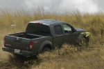 2015 Nissan Frontier Crew Cab PRO-4X 4WD in Night Armor - Driving Rear Right Three-quarter View