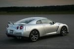 2011 Nissan GT-R Coupe in Super Silver 3-Coat Metallic - Static Rear Right Three-quarter View