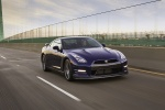 2012 Nissan GT-R Coupe in Deep Blue Pearl - Driving Front Right Three-quarter View