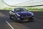 2012 Nissan GT-R Coupe in Deep Blue Pearl - Driving Front Right View