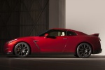 2015 Nissan GT-R in Regal Red - Static Side View
