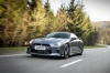 Driving 2017 Nissan GT-R Coupe Premium in Gun Metallic from a front left view