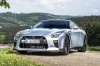 2017 Nissan GT-R Coupe Track Edition in Super Silver Metallic from a front left view
